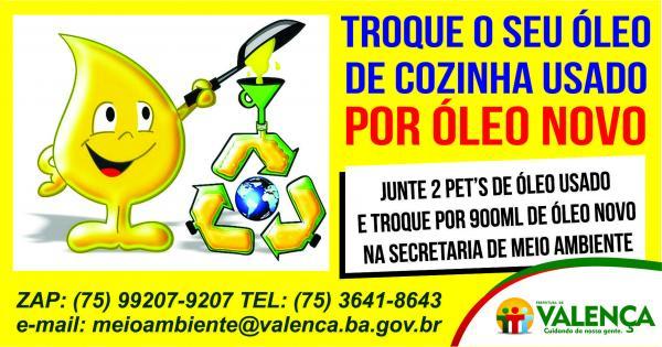 Implementação de coleta e troca de óleo de cozinha é realizada pela secretaria de meio ambiente