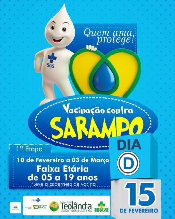 Teolândia: Secretaria de Saúde realiza mais uma etapa da campanha de vacinação contra o Sarampo