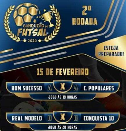 Dois jogos abrem a 2ª rodada do Ganduzão de Futsal 2020.