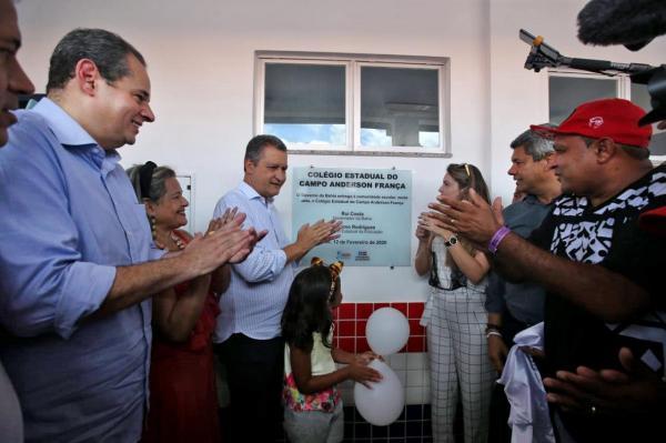 Nelson Leal participa de inaugurações em Prado, ao lado de Rui Costa, e volta a defender mais investimentos em educação