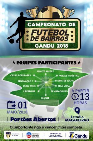 Após reunião com clubes, Secretaria do Esporte de Gandu anuncia realização do Campeonato de Bairros 2018.