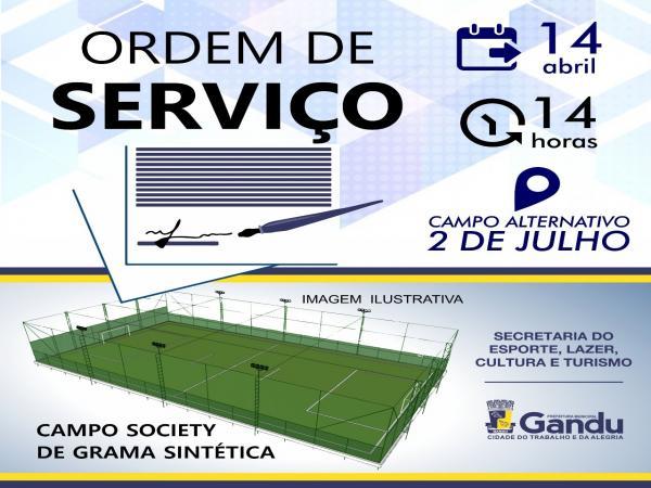 Prefeito de Gandu Leonardo Cardoso assina mais uma ordem de serviço no município.