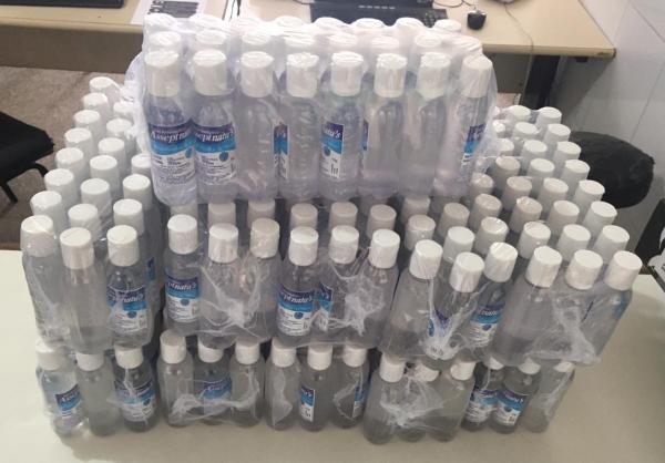 Mais de 260 unidades de álcool gel falsificadas são apreendidas