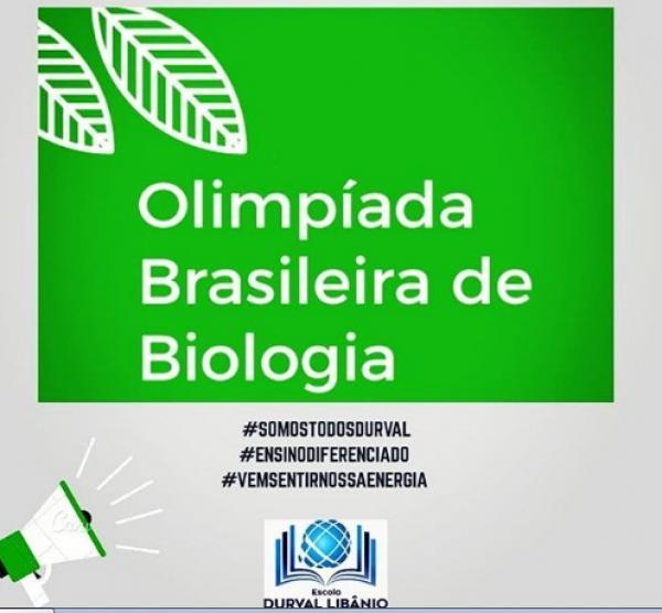 ´Olimpíada Brasileira de Biologia:` Estudantes da Durval Libânio se classificam para as próximas fases.