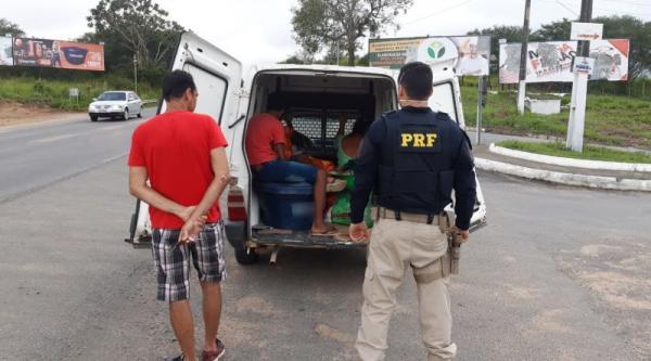 PRF flagra condutor realizando transporte irregular de passageiros na BR-101