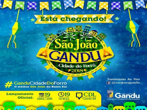 Prefeitura de Gandu anuncia nesta quinta as atrações do São João 2018.