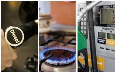 Gás de cozinha, gasolina e diesel voltam a subir