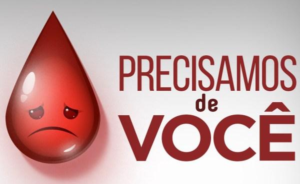 Hospital de base precisa com urgência de doações de sangue.