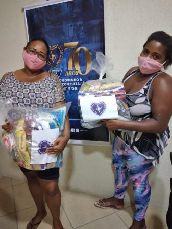 Sua doação chegou à cidade de Itabuna