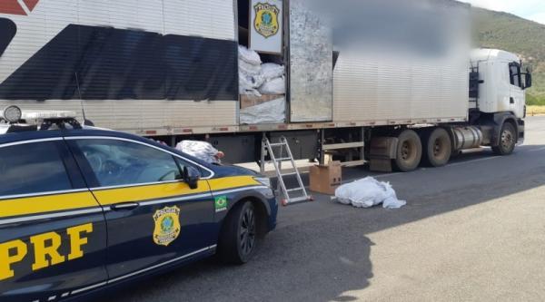Carga de produtos falsificados é apreendido na BR-116, em Jequié.