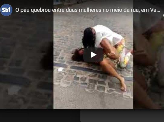 Vídeo: O pau quebrou entre duas mulheres no meio da rua, em Valença.