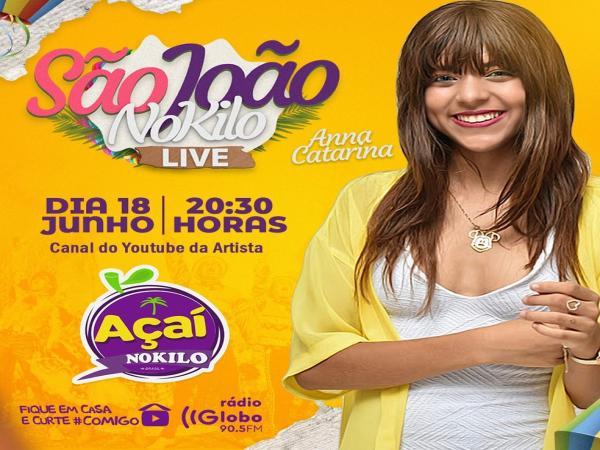 A apresentação será transmitida através do canal oficial de Anna Catarina no YouTube