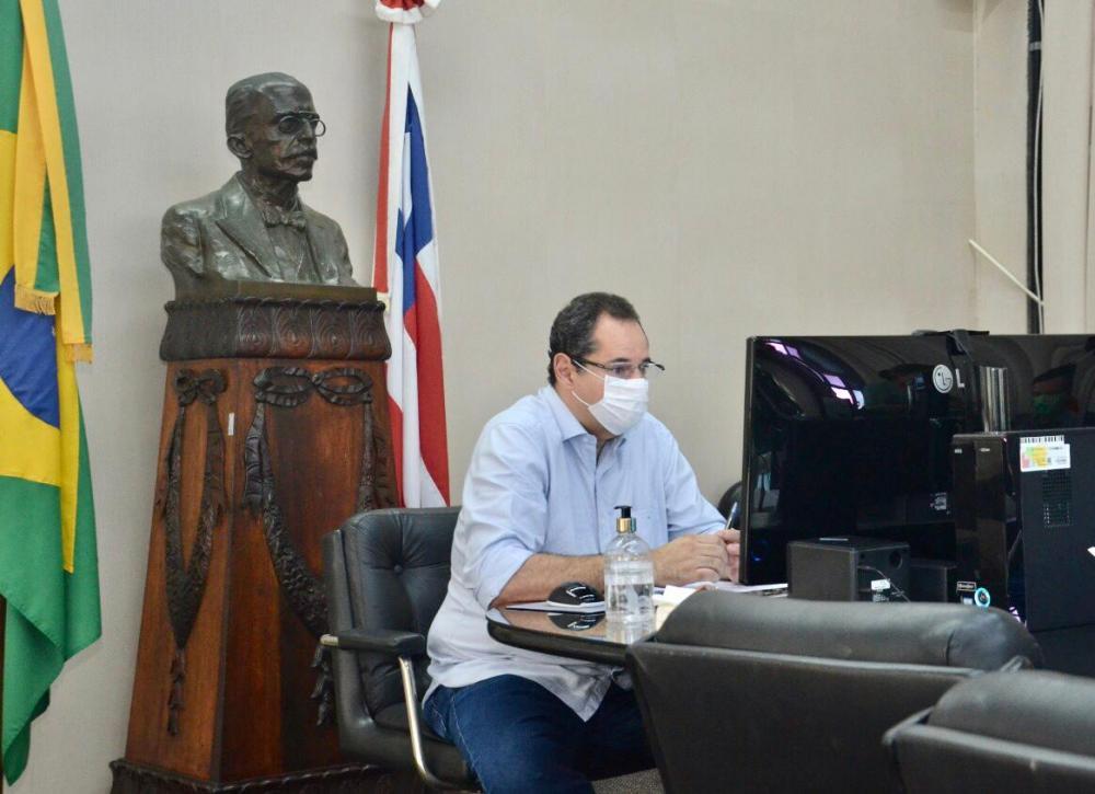 Em mais uma sessão virtual, Nelson Leal comanda renovação de decretos de calamidade pública para 381 municípios baianos