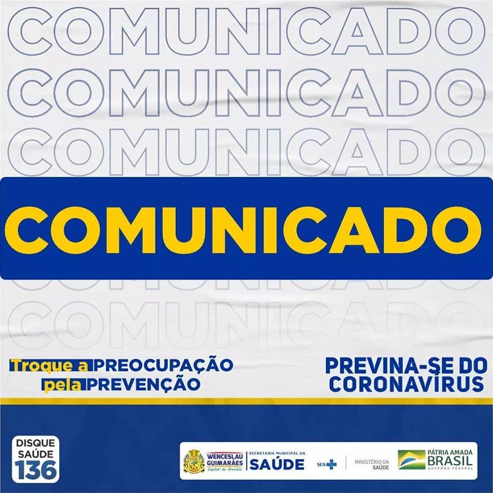 Wenceslau Guimarães: Boletim epidemiológico desda segunda (29)