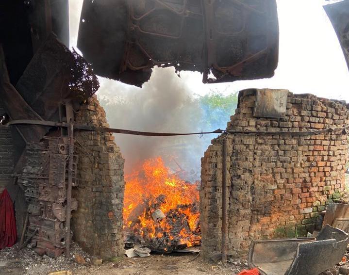 Quatro toneladas de maconha são incineradas pela Polícia em Jequié