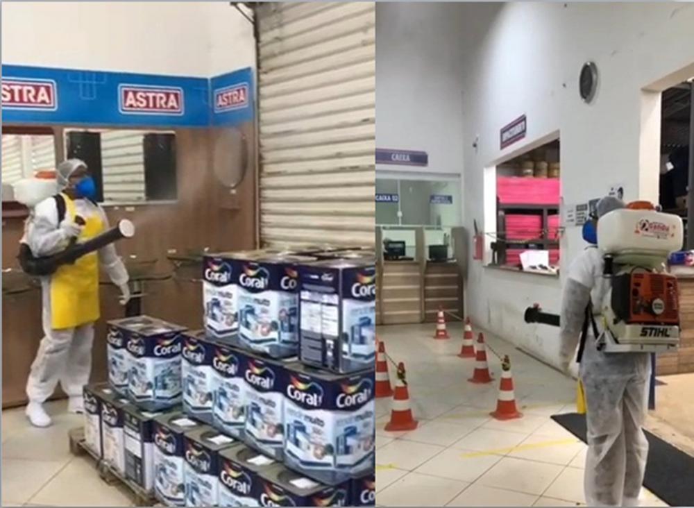 Gandu: Empresa passa por desinfecção visando prevenção à covid-19