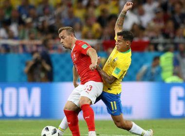 Brasil larga na frente, mas sofre empata com a Suíça