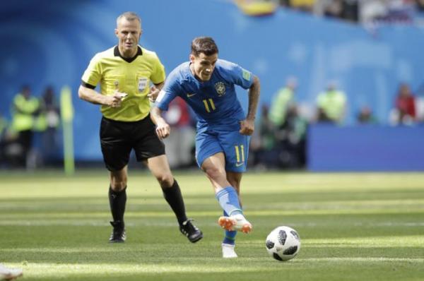 Brasil vence a Costa Rica com gols de Coutinho e Neymar