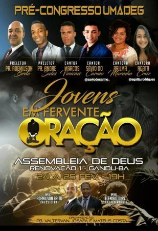 Gandu: Igreja Assembleia de Deus promove evento para juventude.