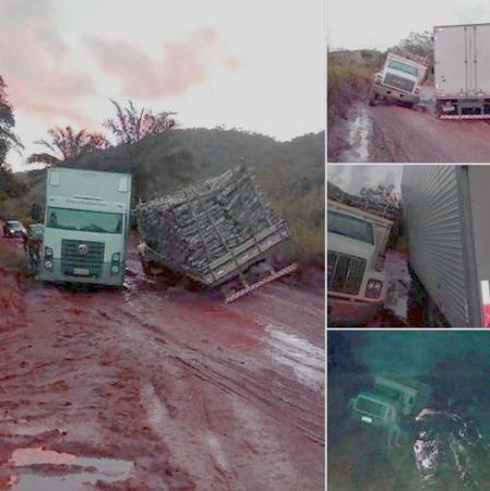 Chuvas deixam BR-030 intransitável em Maraú.