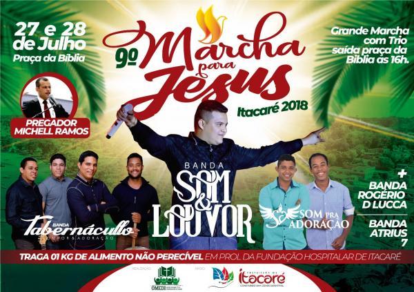 Marcha Para Jesus em Itacaré será nos dias 27 e 28 de julho.