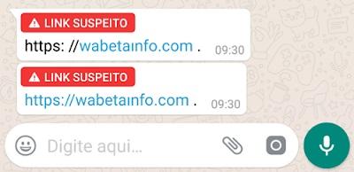 WhatsApp vai avisar quando um link for suspeito para que você não clique.