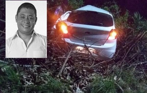 Vice-prefeito de Itaparica morre em acidente de carro neste domingo (29)