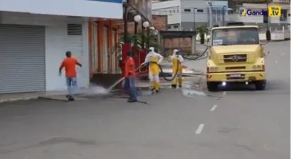 Prefeitura de Gandu realiza mais ações preventivas de combate a disseminação do coronavírus.