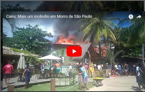 Morro de São Paulo: Restaurante pega fogo e causa pânico a moradores e turistas