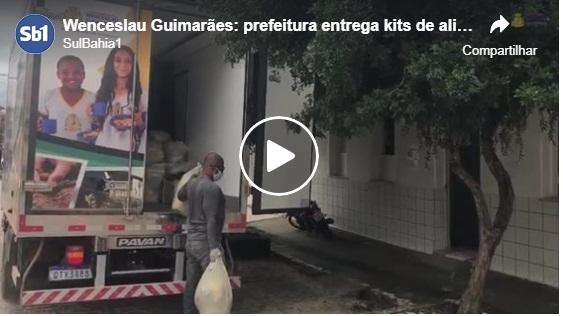 Wenceslau Guimarães: prefeitura entrega kits de alimentação