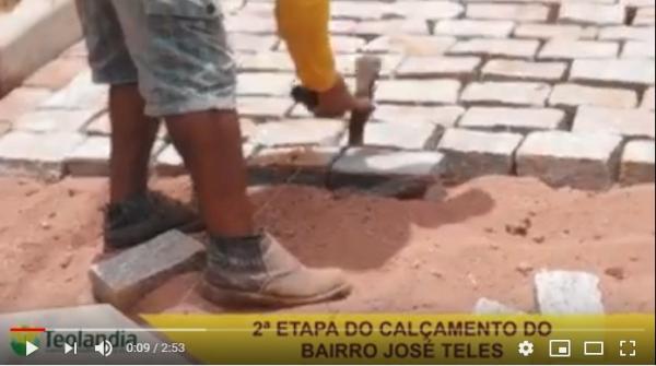 Teolândia: Segunda etapa do calçamento do Bairro José Teles
